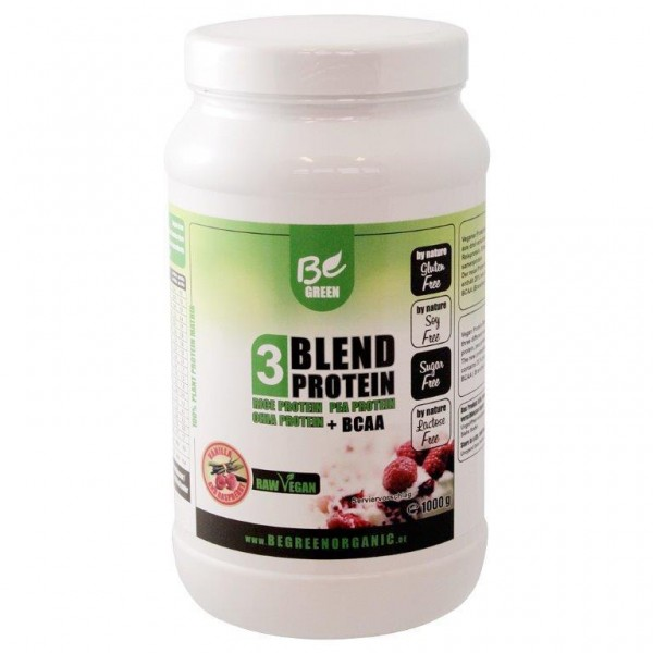 Be Green 3-Blendprotein 1000g Himbeer-Vanille