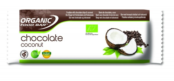 Organic Food Bar - Chocolate Coconut, BIO - 12 x 50g Riegel