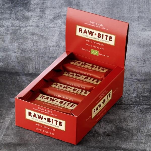 RAW BITE, BIO DK - Apple & Cinnamon Riegel, 12er Display Box