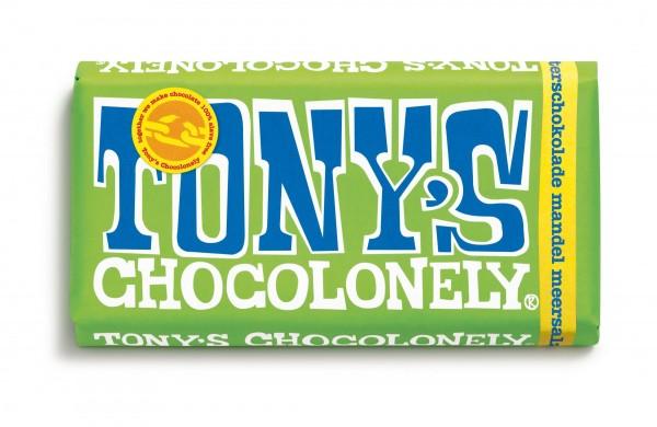 TONY'S CHOCOLONELY® Zartbitterschokolade 51%, Mandel Meersalz, 15 X 180g