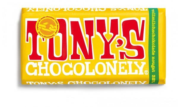 TONY'S CHOCOLONELY® Vollmilchschokolade 32% Nougat, 15 X 180g