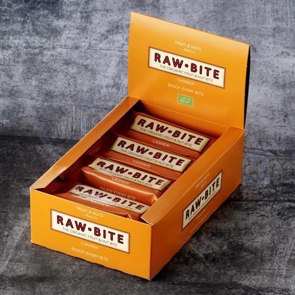 RAW BITE, BIO DK - Cashew Riegel, 12er Display Box