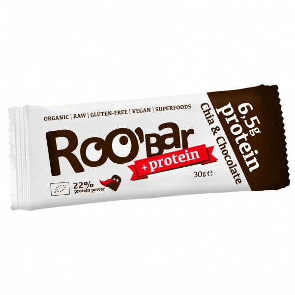 ROOBAR Protein Chia & Chocolate 12 x 30g, Bio