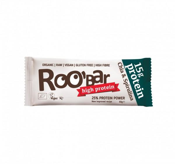 ROOBAR Protein Chia & Spirulina 10 x 60g, Bio