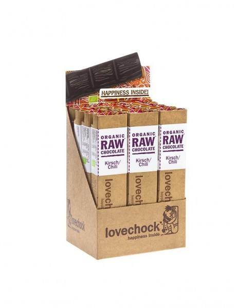 lovechock bio - Kirsch / Chilli, 12er Display Box