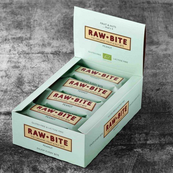 RAW BITE, BIO - Peanut Riegel, 12er Display Box