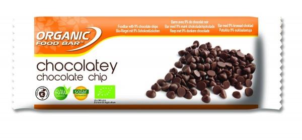 Organic Food Bar - Chocolatey Choco Chip, BIO - 12 x 50g