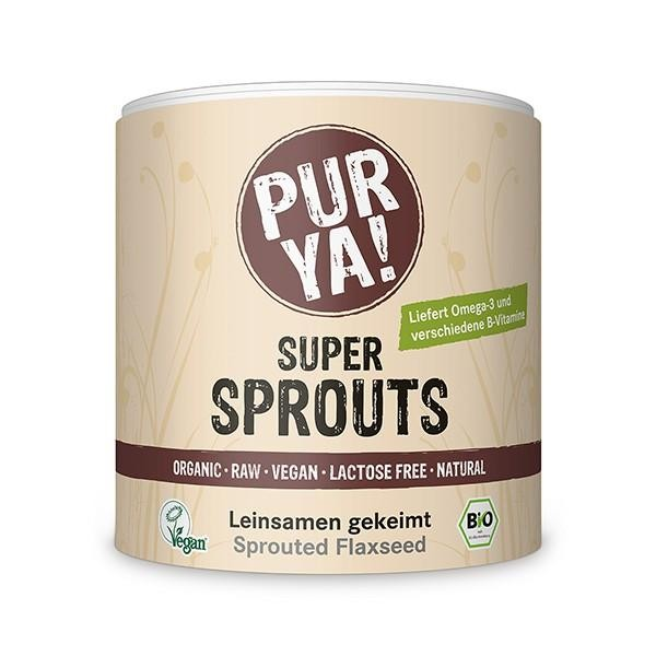 PURYA! Super Sprouts - gekeimter Bio Leinsamen