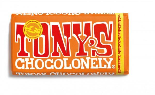 TONY'S CHOCOLONELY® Vollmilchschokolade 32% Karamell Meersalz, 15 X 180g