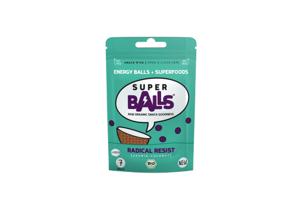 Superballs Radical Resist (Aronia-Coconut) 8 x 48g, Bio