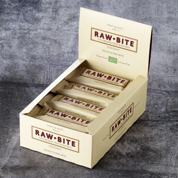 RAW BITE, BIO DK - Coconut Riegel, 12er Display Box