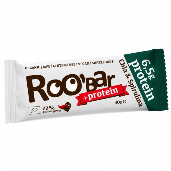 ROOBAR Protein Chia & Spirulina 12 x 30g, Bio