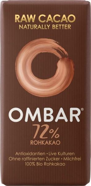 Ombar Bio-Rohschokolade - 72% Rohkakao, 1 Box (10 x 35g)