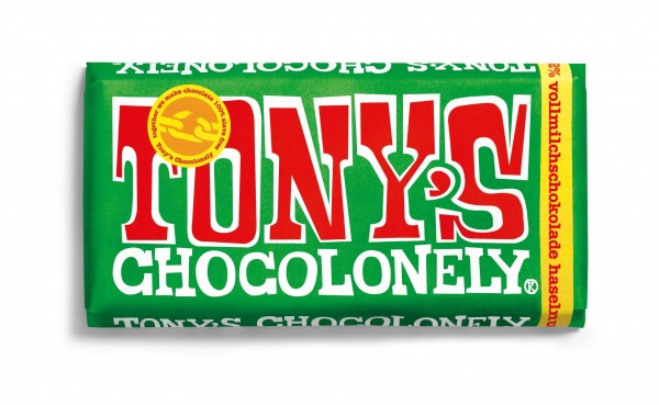 TONY'S CHOCOLONELY® Vollmilchschokolade 32% Haselnuss, 15 X 180g