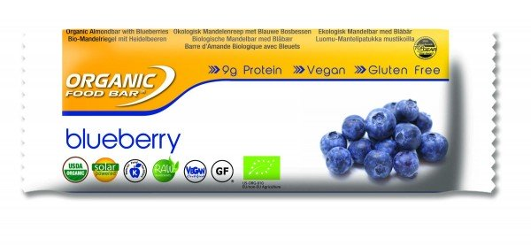 Organic Food Bar - Blueberry, BIO - 12 x 70g Riegel
