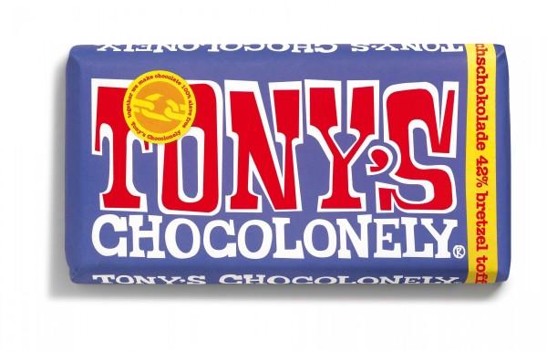 TONY'S CHOCOLONELY® Vollmilchschokolade 42%, Brezel Toffee, 15 X 180g