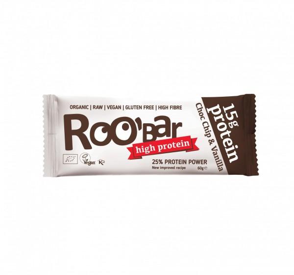 ROOBAR Protein Choc Chip & Vanilla 10 x 60g, Bio